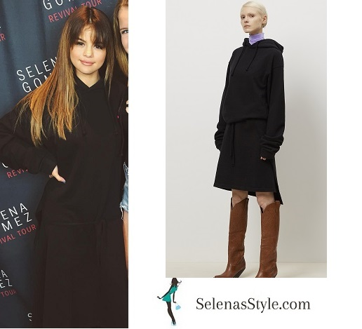 Selena gomez black hoodie dress Revival Tour St Paul instagram