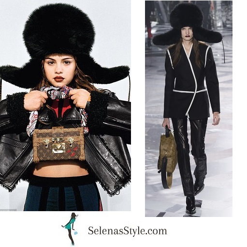 Selena gomez fur hat Louis Vuitton campaign 2016 photo instagram