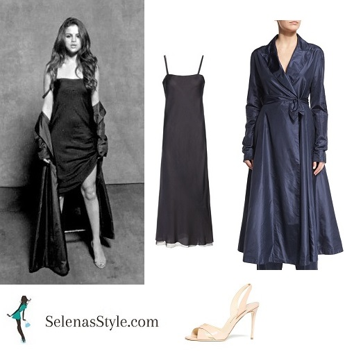 Selena Gomez long dress and shawl Kill em with Kindness instagram 2