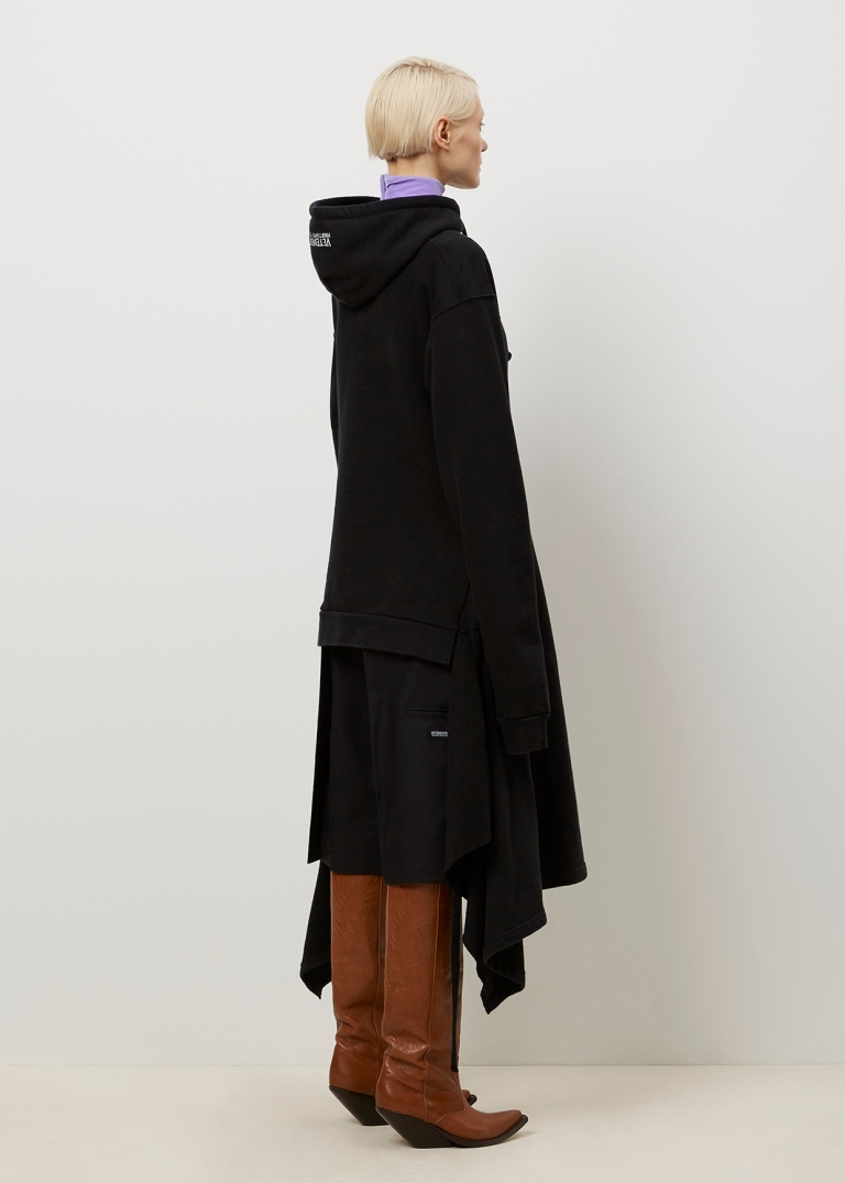 Vetements Black hoodie Dress back view