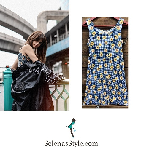 Selena Gomez floral dress Revival tour instagram