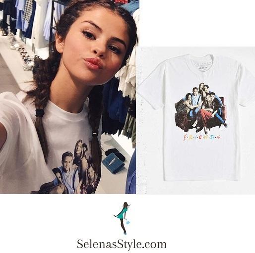 Selena Gomez Friends tshirt Jakarta July 2016 instagram