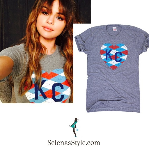 Selena Gomez grey KC t-shirt photo instagram