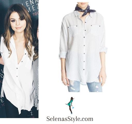 Selena gomez white shirt Anaheim Revival Tour instagram.jpg