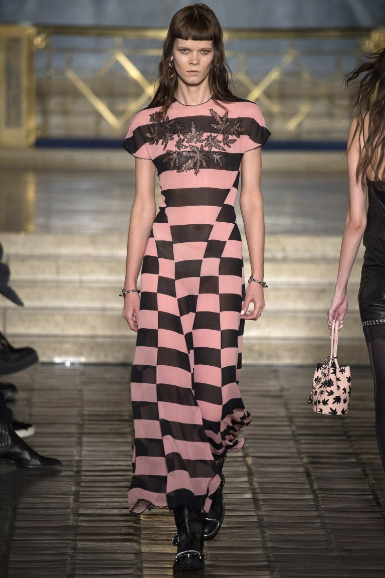Alexander Wang Fall 2016 pink and black dress