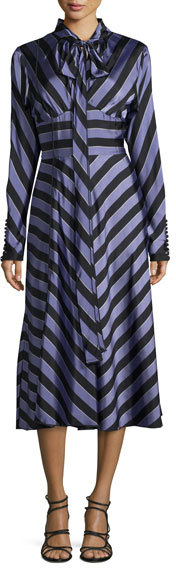 Marc Jacobs Chevron Striped Tie Neck