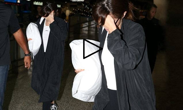 Selena Gomez arrival at Melbourne Airport