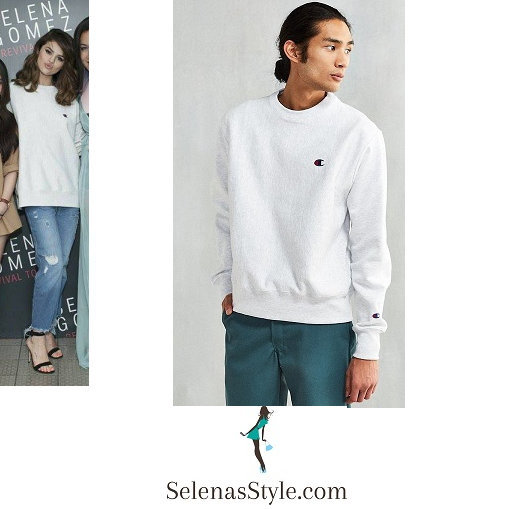 Selena Gomez light grey sweatshirt Nonthaburi Revival Tour instagram