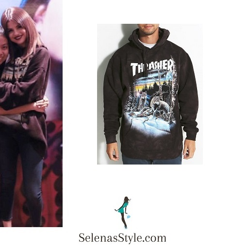 Selena Gomez style black hoodie Singapore Revival Tour  instagram
