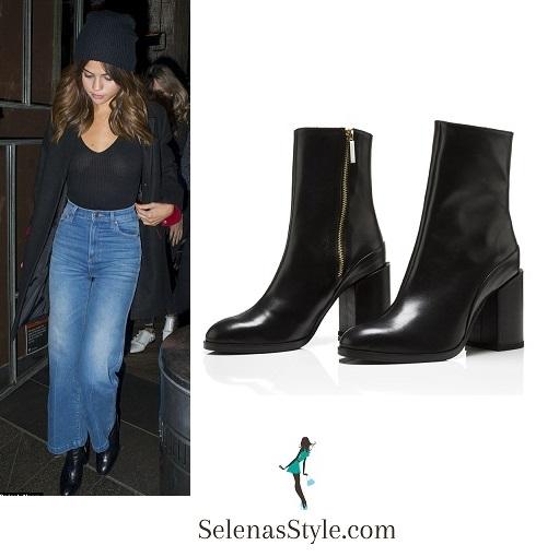 Selena Gomez style  black top jeans black hat black boots Sydney August 2016 Revival tour instagram