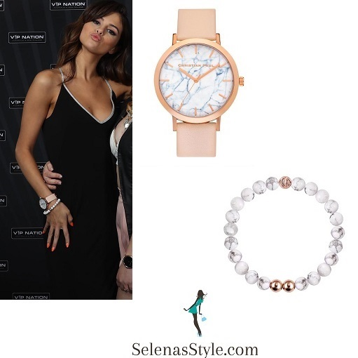 Selena gomez style pink watch and white bracelet sydney revival tour august 2016 instagram