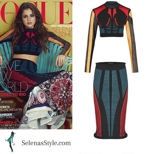 Selena gomez style Vogue australia September 2016 instagram