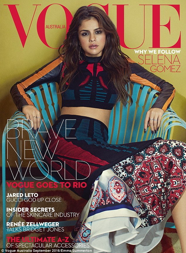 Selena gomez Voague australia September 2016 photo Emma summerton
