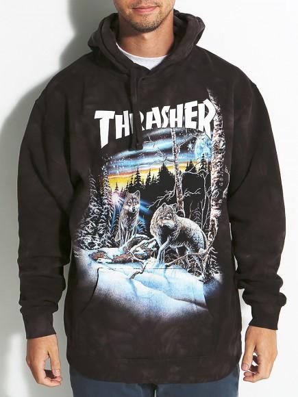 Thrasher 13 Wolves Tie Dye Hoodie