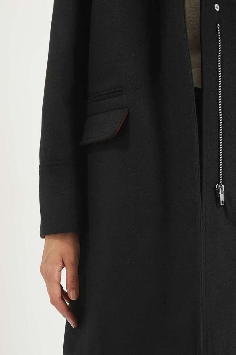 Topshop Slim Fit Coat close up
