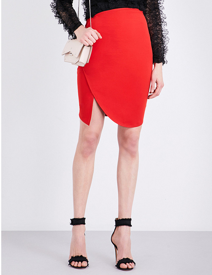 GIVENCHY ASYMMETRIC STRETCH-JERSEY SKIRT