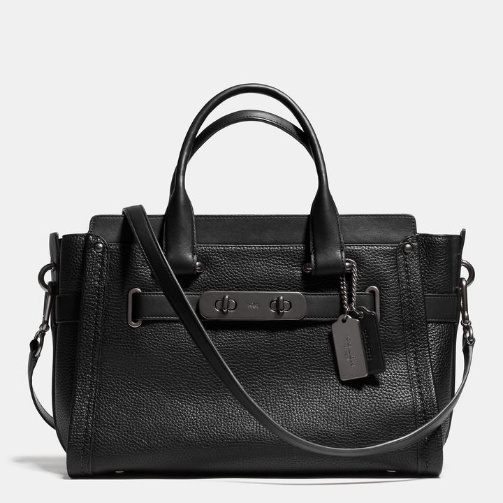 Coach 'Swagger_ Carryall Bag in Nubuck Pebble Leather