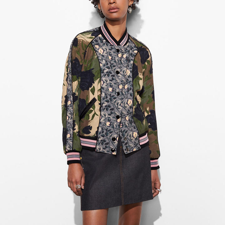 Coach Reversible Satin Jacket