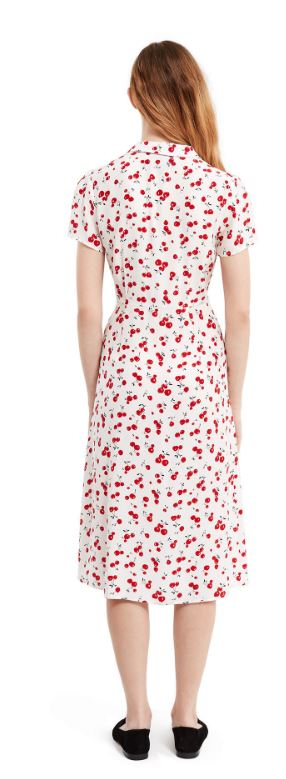 HVN Cherry Printed Dress back view