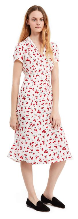 HVN Cherry Printed Dress