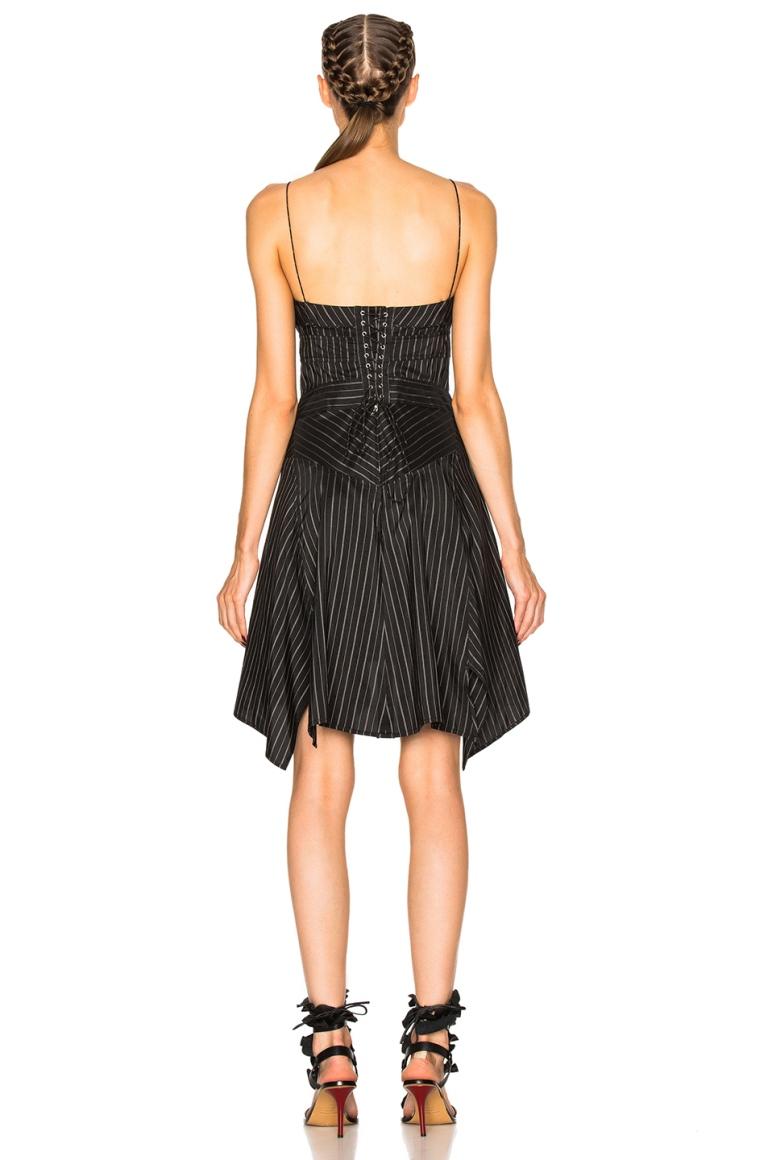 Isabel Marant Striped Shaper Dress back view