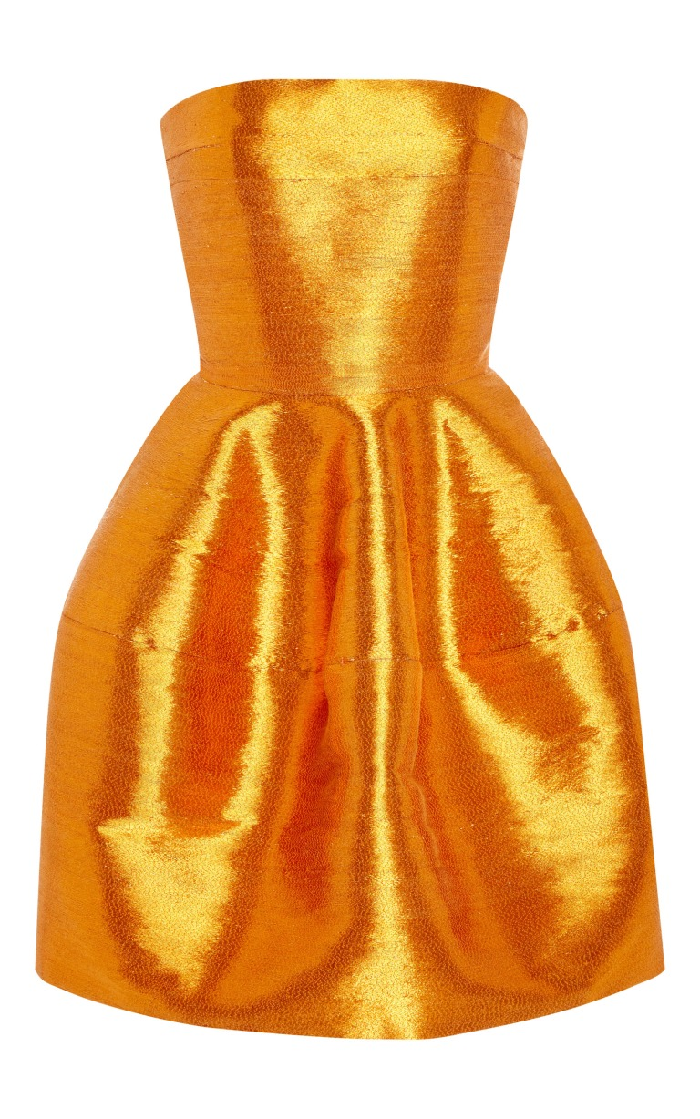 large_oscar-de-la-renta-orange-strapless-cocktail-dress