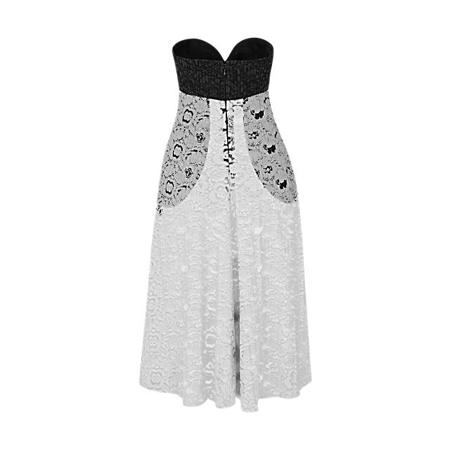 Louis vuitton lace bustier dress back view