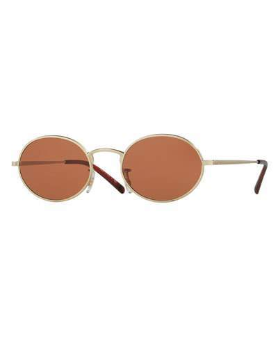 Oliver Peoples Empire Suite Monochromatic Oval Sunglasses