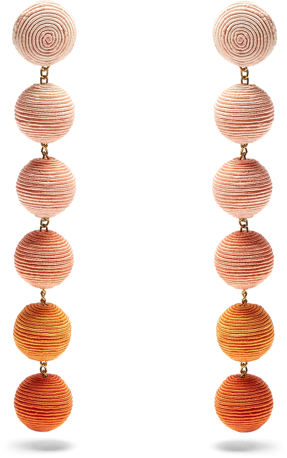 Rebecca de Ravenel Corded-Silk Drop Earrings