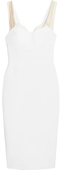 Victoria Beckham Trompe L'Oeil Fitted Dress