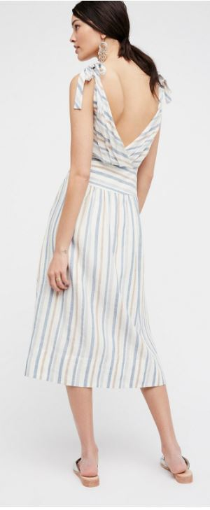 Free People 'Kansas City Girl' Midi Dress back view