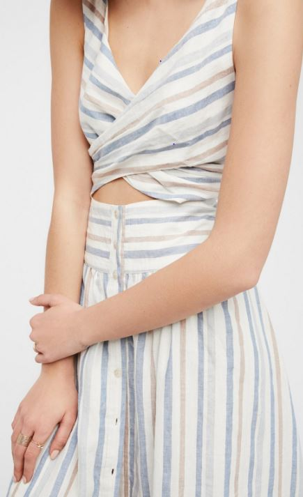 Free People 'Kansas City Girl' Midi Dress close up
