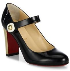 Louboutin 'Bibaba' Patent Leather Mary Jane Pumps