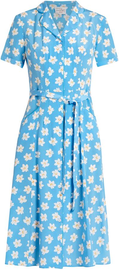 HVN Maria dress falling floral