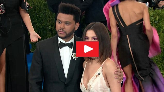 Selena Gomez and The Weeknd at the Met Gala 2017 video Daily Mail