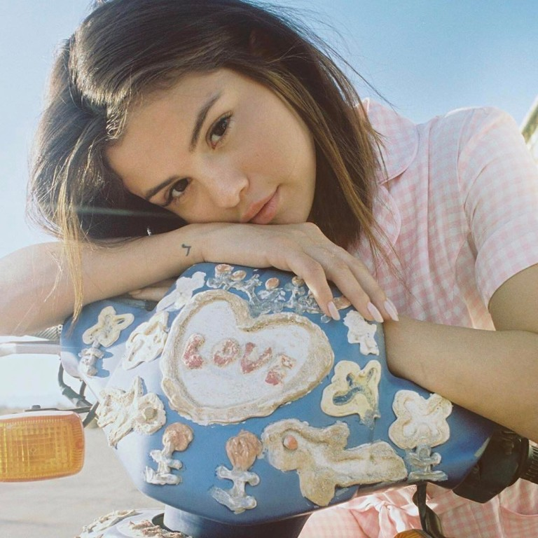 Selena Gomez pink gingham dress photo Petra Collins