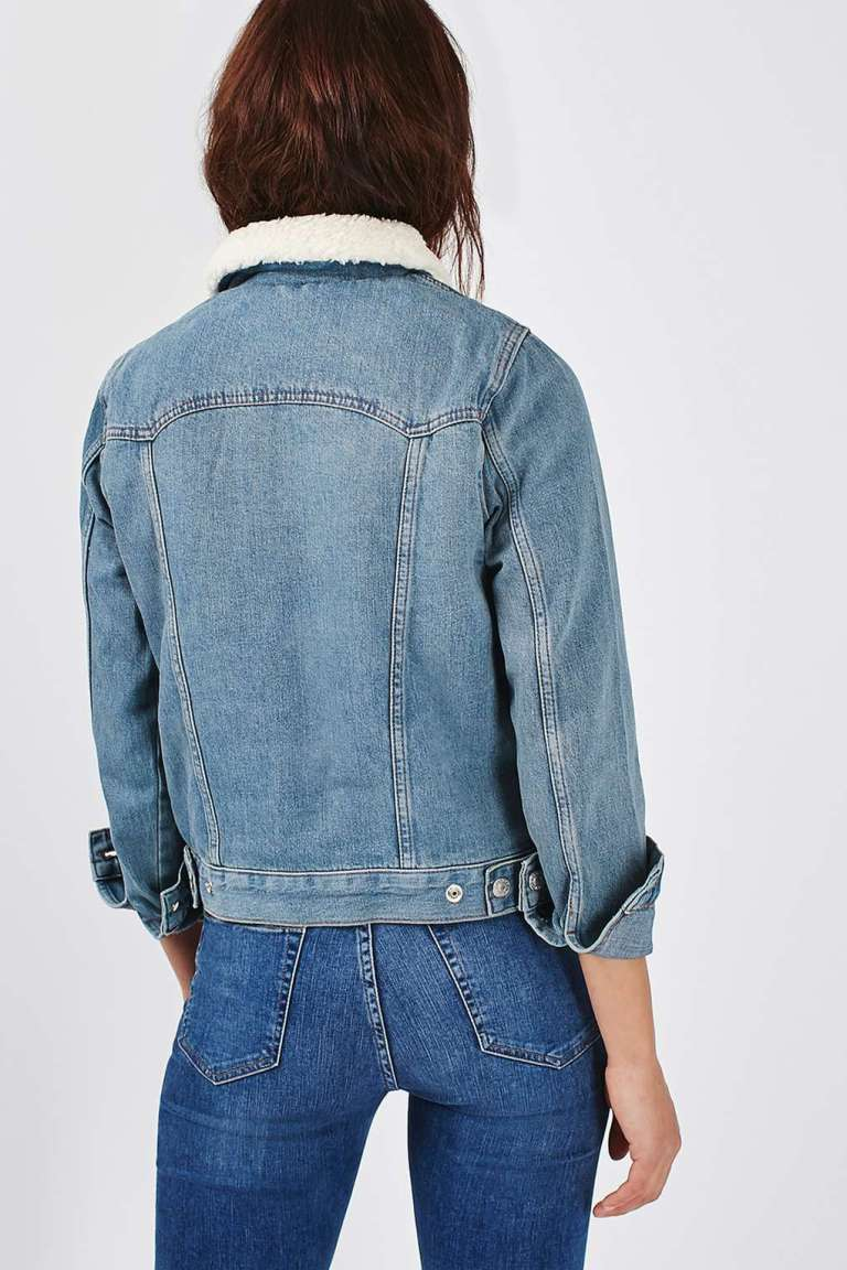 Topshop Borg Western Jacket back view