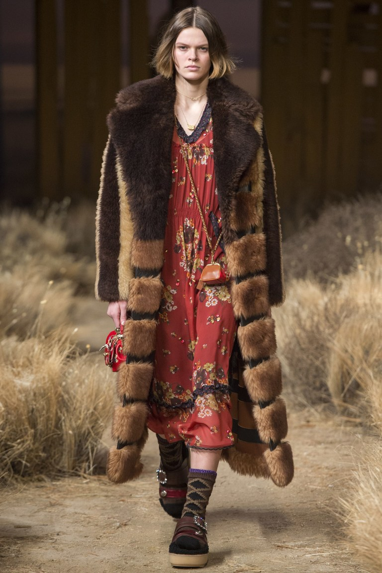 Coach Fall 2017 red floral dress