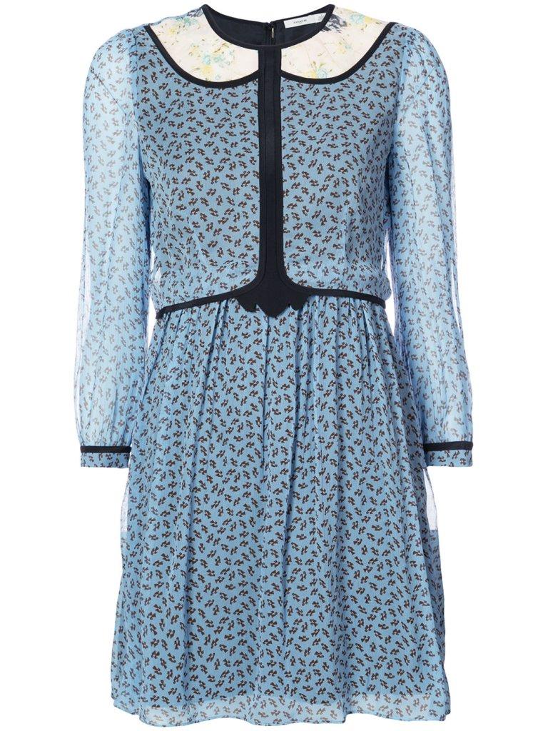 Coach geometric print semi-sheer dress