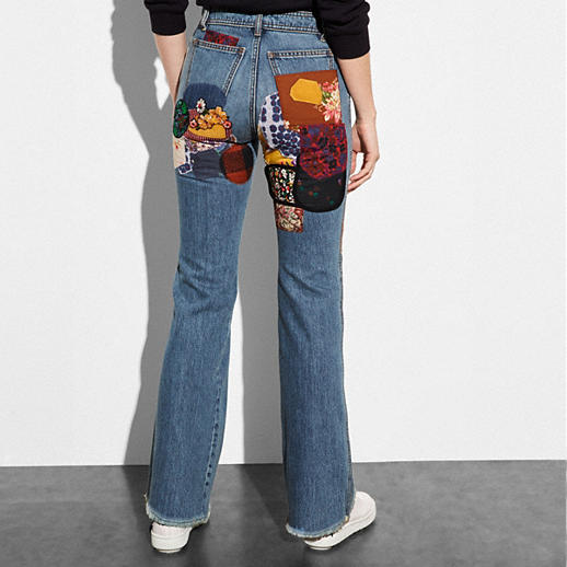 Coach Patched Jeans back view