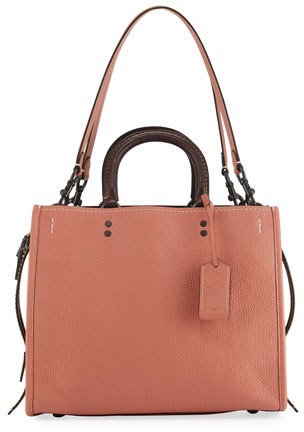 Coach Rogue Small Leather Tote Bag orange