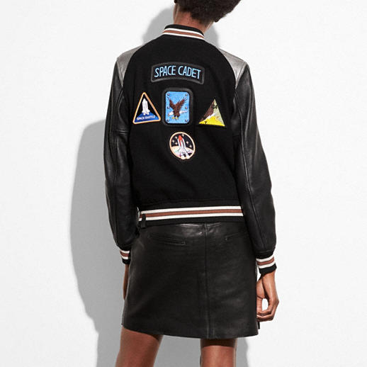 Coach Space Varsity Jacket back view