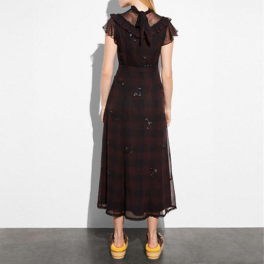 Coach Western Dress With Necktie back view