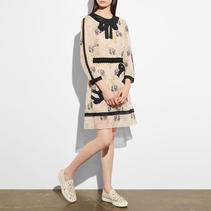 CoachEmbroidered Prairie Dog Rose Dress