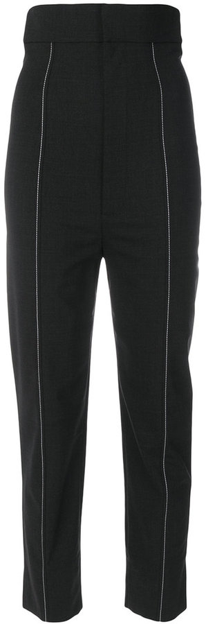 Jacquemus cropped stitched trousers