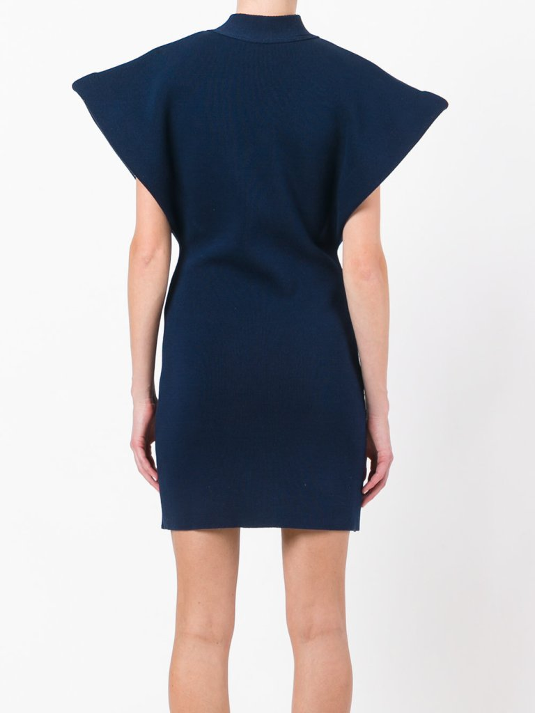 Jacquemus Sleeveless Wrap Dress back view