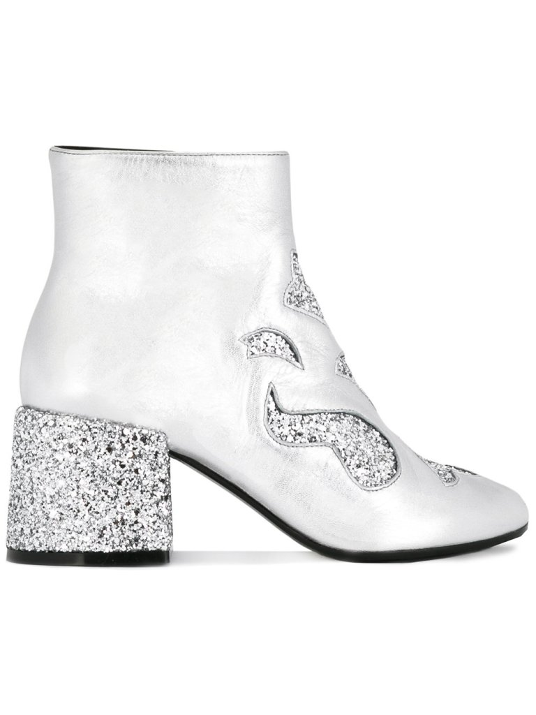 MM6 Maison Margiela Glitter Ankle Boots side