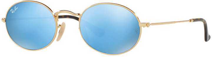 RAY-BAN OVAL FLAT LENS SUNGLASSES