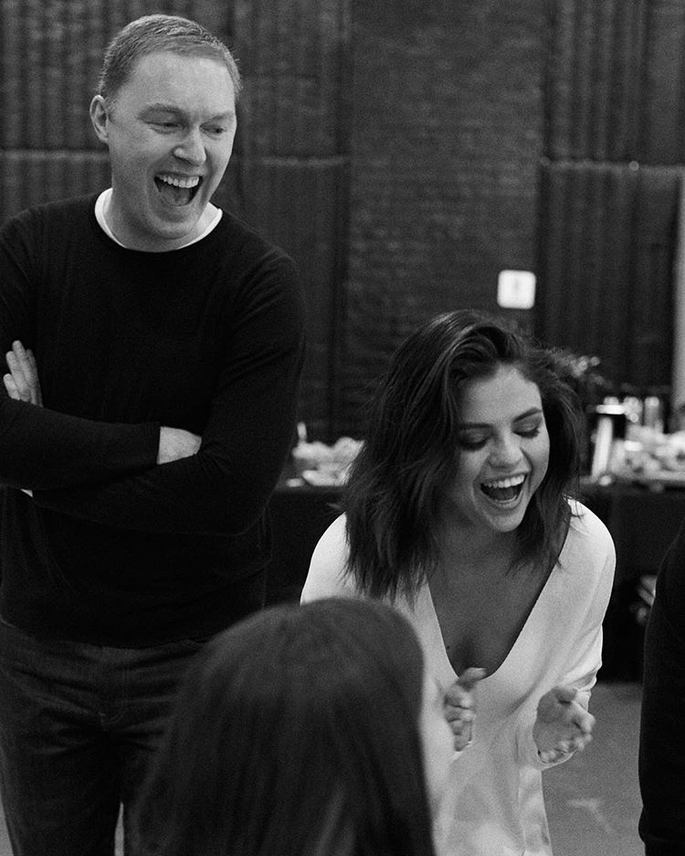 Selena Gomez and Stuart Vevers behind the scenes Coach Fall campaign