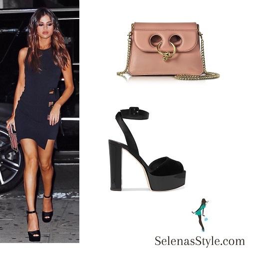 12e6224116 Selena Gomez Sexy Black Dress in NY – Selena Gomez Style Blog